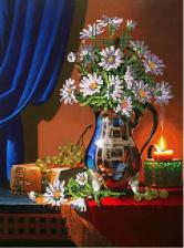 Картины бисером | Схема Вечерний натюрморт. Размер - 25,5 х 34,5 см