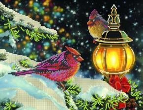 Картины бисером | Схема Рождественский вечер. Размер - 30 х 23 см