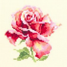 Чудесная игла | Прекрасная роза. Размер - 11 х 11 см