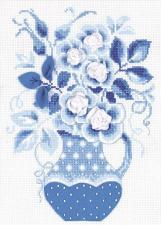 Риолис | Зимние розы. Размер - 18 х 24 см