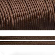 Кант атласный шир.11мм цв.(F302) тёмно-коричневый