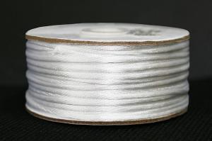 Шнур атласный круглый 2-3мм цв. белый