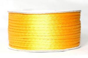 Шнур атласный круглый 2-3мм цв. 3016 жёлтый