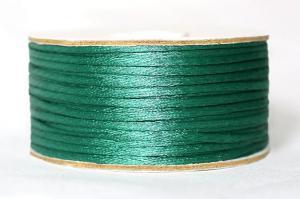 Шнур атласный круглый 2-3мм цв. 3045 зелёный