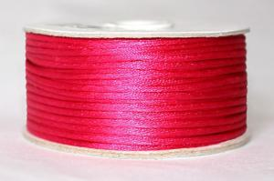 Шнур атласный круглый 2-3мм цв. 3081 малиновый