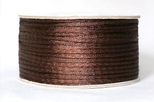 Шнур атласный круглый 2-3мм цв. 3139 коричневый