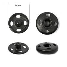 Кнопка пришивная металлическая TBY-SBI 14 мм цв.чёрный