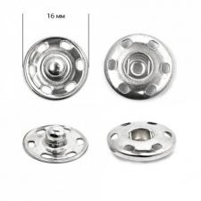 Кнопка пришивная металлическая TBY-SBI 16 мм цв.никель