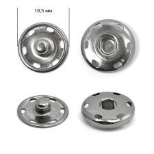 Кнопка пришивная металлическая TBY-BJ059 18,5 мм цв.никель чёрный