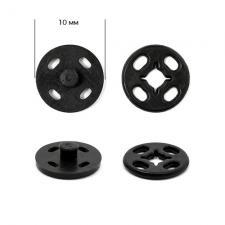 Кнопка пришивная пластиковая TBY-PSB 10 мм цв.чёрный