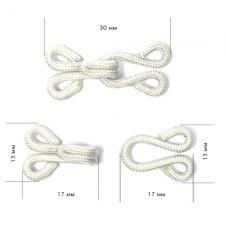 Крючок пришивной в оплетке, шубный 29мм TBY-HWT.1.8 цв.белый