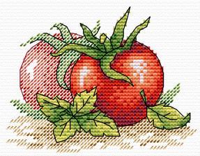 """Набор для вышивания крестиком ТМ """"Жар-Птица"""" """"Спелый томат"""". Размер - 11 х 8,5 см."""