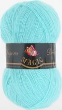 Пряжа Magic Angora delicate (15% мохер,10% шерсть,75% акрил,100гр/500м),1111 светлая зелёная бирюза
