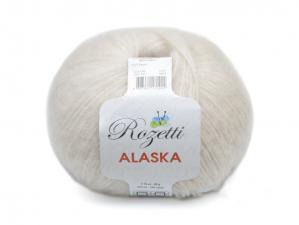 Пряжа Rozetti Alaska (44% акрил, 26% полиамид, 15% альпака, 15% суперстирка шерсть мериноса,50г/225м),231-18 молочный