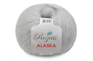 Пряжа Rozetti Alaska (44% акрил, 26% полиамид, 15% альпака, 15% суперстирка шерсть мериноса,50г/225м),231-21 светло-серый
