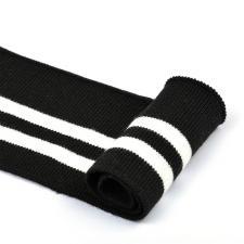 Подвяз трикотажный арт.TBY.73004 цв.чёрный с белыми полосами, 6х80см
