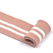 Подвяз трикотажный арт.TBY.73006 цв.пыльно-розовый с белыми полосами, 6х80см