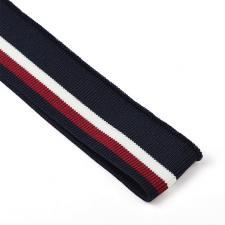 Подвяз трикотажный арт.TBY.73019 цв.т.синий с белой и бордовой полосами, 3,5х80см