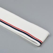 Подвяз трикотажный арт.TBY.73020 цв.белый с тёмно-синей и бордовой полосами, 3,5х80см