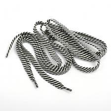 Шнурки плоские 9 мм 7с859 длина 100 см, компл.2шт, цв. белый с чёрным