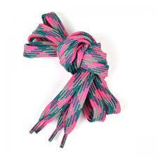 Шнурки плоские 9 мм 7с859 длина 100 см, компл.2шт, цв. ярко-малиновый/морская волна/серый