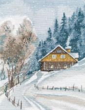 Овен   Зимняя тишина. Размер - 20 х 26 см
