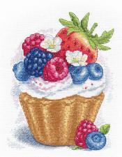 Овен   Ягодный десерт. Размер - 16 х 20 см