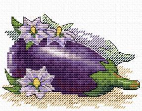 "Набор для вышивания крестиком ТМ ""Жар-Птица"" ""Яркий баклажан"". Размер - 11 х 8,5 см."