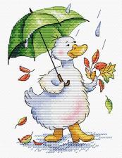 """Набор для вышивания крестиком ТМ """"Жар-Птица"""" Дождливый променад"""". Размер - 14 х 18 см."""