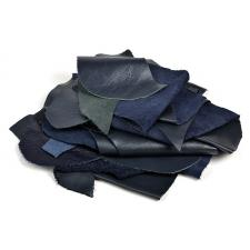 Лоскут кожевенный.Натуральная кожа арт.TBY-P1908-5 цвет синий уп.1кг