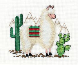 """Набор для вышивания Кларт """"Лама"""". Размер - 15,5 х 14 см"""