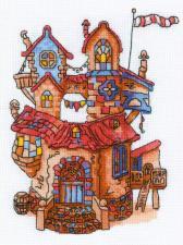Риолис | Сказочный домик. Размер - 18 х 24 см