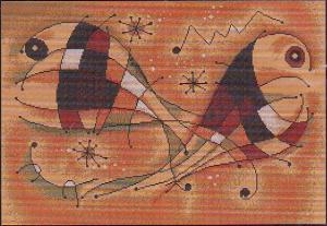 """Набор для вышивания крестом Luca-S """"Абстракция"""". Размер - 36,5 х 25,5 см"""