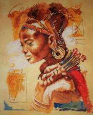 Lanarte (Ланарте) | African woman/Африканка. Размер - 39 х 49 см