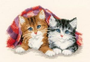 Vervaco | Отдыхающие кошки. Размер - 27 х 19 см