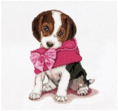 Thea Gouverneur | Puppy love/Щенячья любовь. Размер - 31 х 30 см