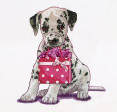 Thea Gouverneur | Puppy went shopping/Щенок на шоппинге. Размер - 31 х 30 см