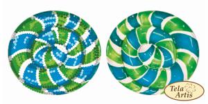 Тэла Артис   ВЛ-008 Леденец сине-зелёный. Размер - 6,5 х 7 см