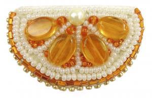 """Набор для изготовления броши Crystal Art """"Апельсин"""". Размер - 5 х 3 см"""