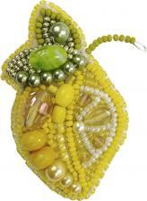 """Набор для изготовления броши Crystal Art """"Лимончик"""". Размер - 6,5 х 4,5 см"""