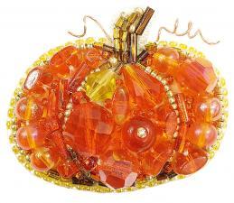 """Набор для изготовления броши Crystal Art """"Тыква"""". Размер - 4,5 х 5,5 см"""