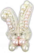 """Набор для изготовления броши Crystal Art """"Зайка"""". Размер - 3,5 х 6 см"""