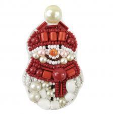 """Набор для изготовления броши Crystal Art """"Снеговик"""". Размер - 4 х 6,5 см"""