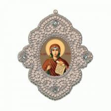Новая слобода | Двухсторонняя подвеска Святая мученица Наталия (Наталья). Размер - 6 х 6,9 см