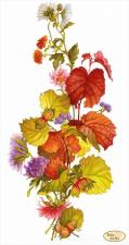 Тэла Артис   Лещина и хризантемы. Размер - 24 х 45 см