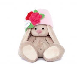 Зайка Ми в шапочке с цветами. Размер - 18 см.
