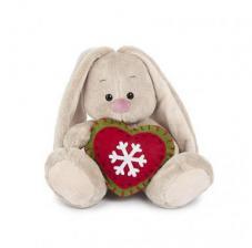 Зайка Ми с новогодним сердечком. Размер - 15 см.