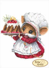 Тэла Артис | Мышка хозяюшка. Размер - 13 х 18 см