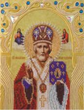 А-строчка | Святой Николай Чудотворец. Размер - 19 х 25 см