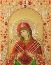 А-строчка | Семистрельная Пресвятая Богородица. Размер - 19 х 25 см